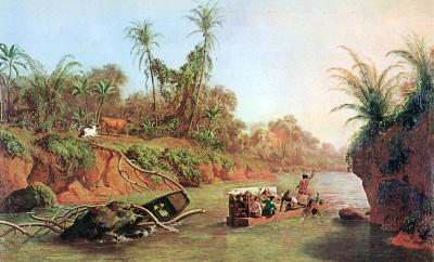 Nahl_1850,_Der_Isthmus_von_Panama_auf_der_Höhe_des_Chagres_River